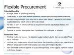 flexible procurement