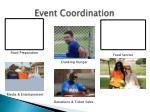 event coordination