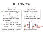 dctcp algorithm