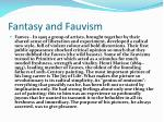 fantasy and fauvism