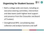 organizing for student success
