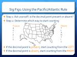 sig figs using the pacific atlantic rule