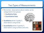 two types of measurements1
