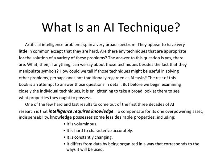 what is an ai technique n.