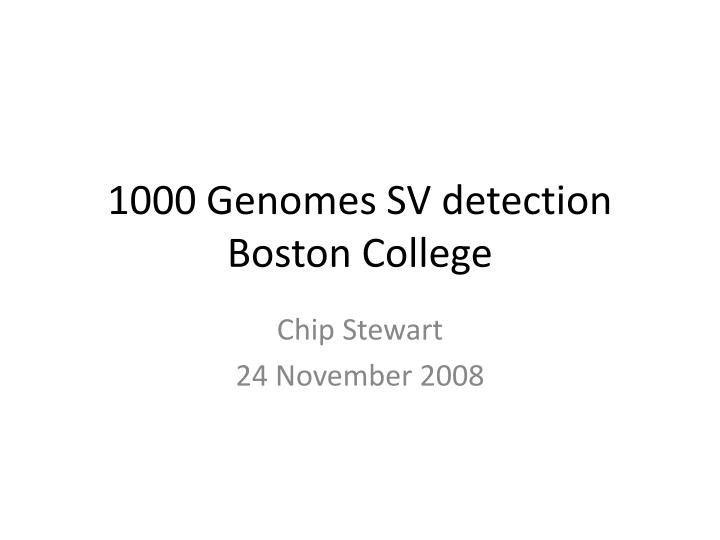 1000 genomes sv detection boston college n.