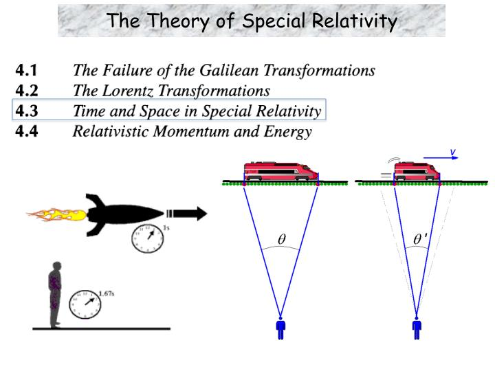 the theory of special relativity n.