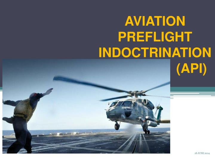 aviation preflight indoctrination api n.