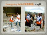emergency relief 2013