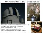ptf palomar 48in 1 2m cfh12k camera