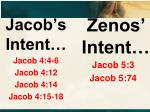 jacob s intent