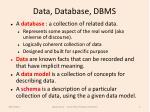 data database dbms