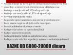 kazne od 6000 20000 dinara