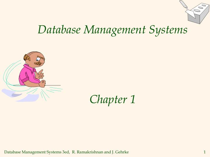 database management systems chapter 1 n.