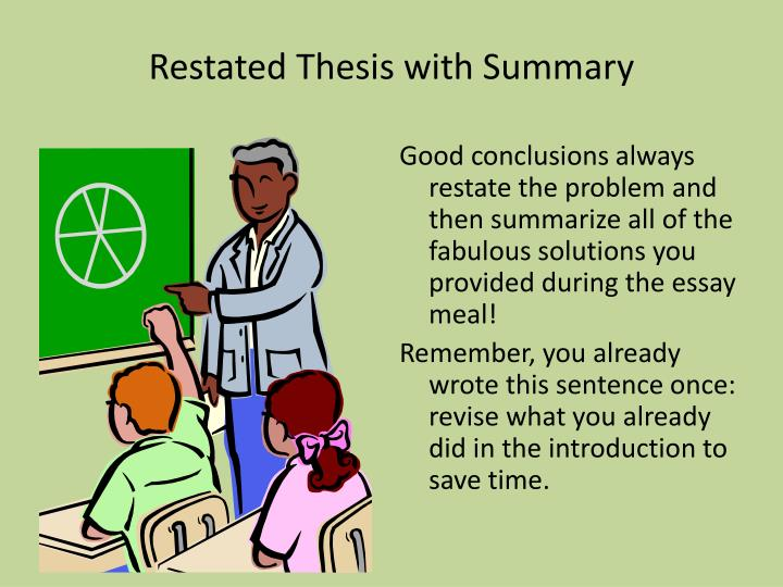 Restated thesis with summary