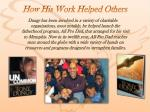 how his work helped others