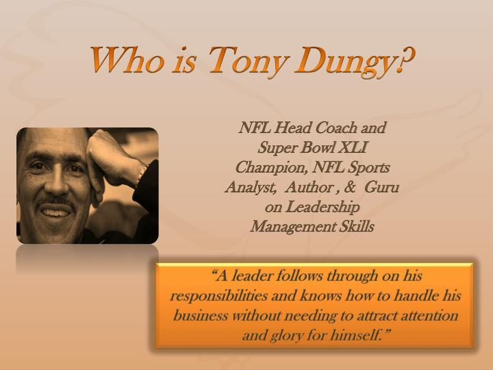 who is tony dungy n.