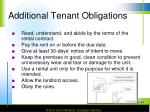 additional tenant obligations