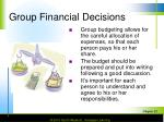 group financial decisions