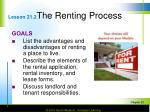 lesson 21 2 the renting process