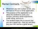 rental contracts