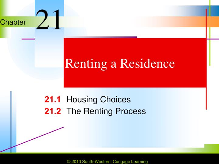 renting a residence n.