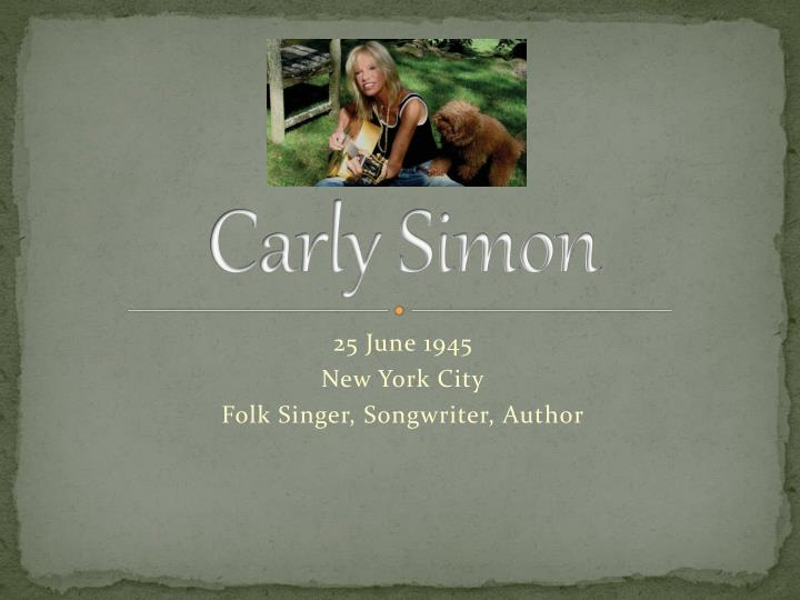 carly simon n.