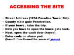 accessing the site