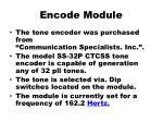 encode module