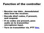 function of the controller