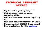 technical assistant needed