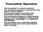 transmitter operation