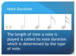 note duration