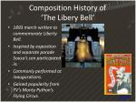 composition history of the libery bell