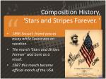 composition history stars and stripes forever