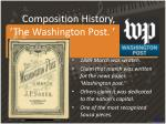 composition history the washington post