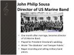 john philip sousa director of us marine band