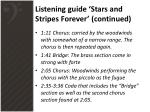 listening guide stars and stripes forever continued