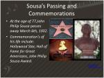 sousa s passing and commemorations
