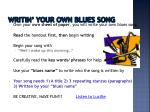 writin your own blues song