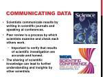 communicating data