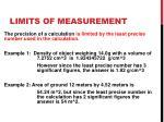 limits of measurement1