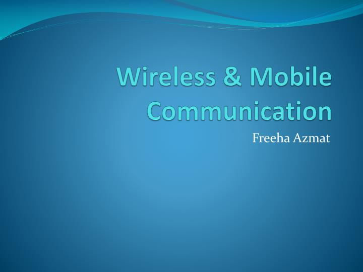wireless mobile communication n.