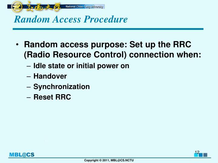 Random Access Procedure