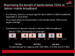 maximising the benefit of bands below 1ghz to deliver mobile broadband