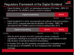 regulatory framework of the digital dividend1
