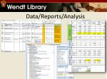 data reports analysis
