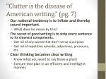 clutter is the disease of american writing pg 7