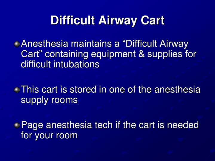 Difficult Airway Cart