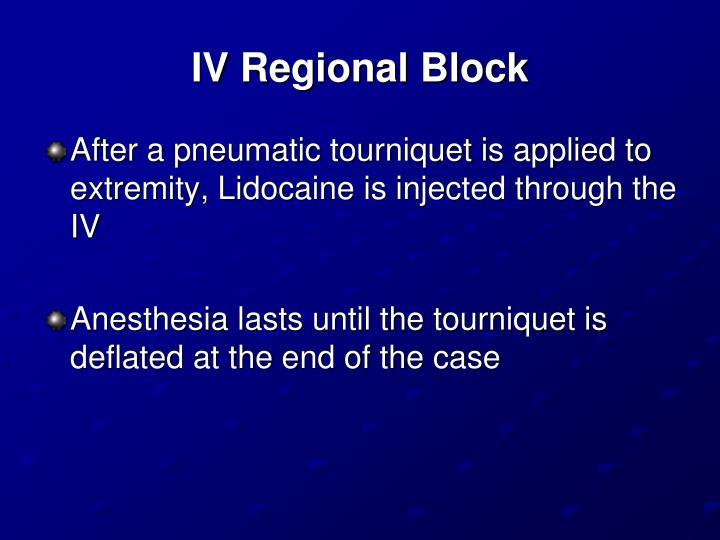 IV Regional Block