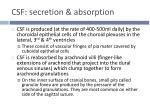 csf secretion absorption1